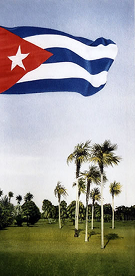 Viva Cuba - (Cuban Flag) - Havana Cuba Art Collection. Paintings by award winning Surrey artist